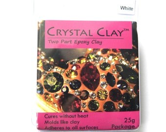 1x 25gr Crystal Clay Epoxy Clay - White