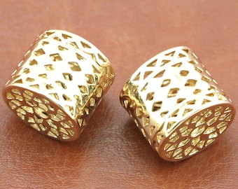 24K Gold Plated Spacer Beads - Spacer Tubes(13x15mm) Spacer connector  - beads  ---G1830