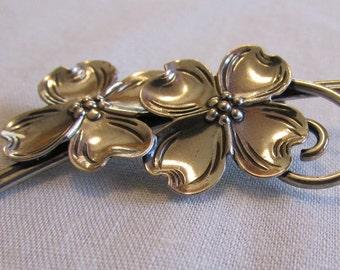 Beau Silver Sterling Dogwood Pin