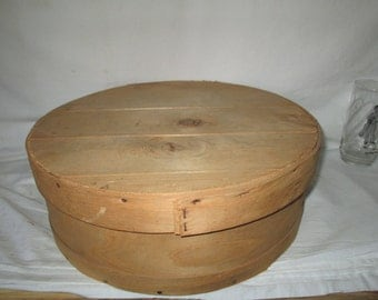 Vintage Large Round Wooden cheese Box in great condition Dufeck's Denmark, Wis. Where the Cheese Heads are