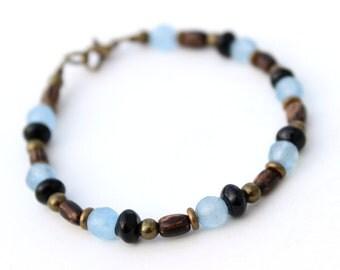 Mens Blue Bracelet