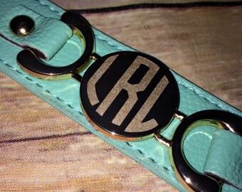 Monogram Leather Cuff