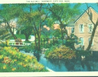 POSTCARD: The Old Mill, Sandwich, Cape Cod, Mass.