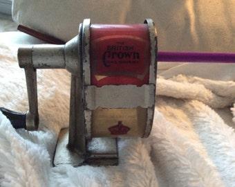 The British Crown Pencil Sharpener, vintage and wonderful