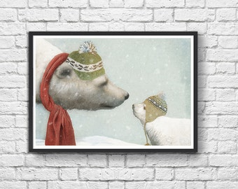 Art-Poster 50 x 70 cm - polar bear  - First Winter