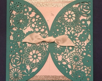 Doily Invitation - Rose Suite - Deposit Only