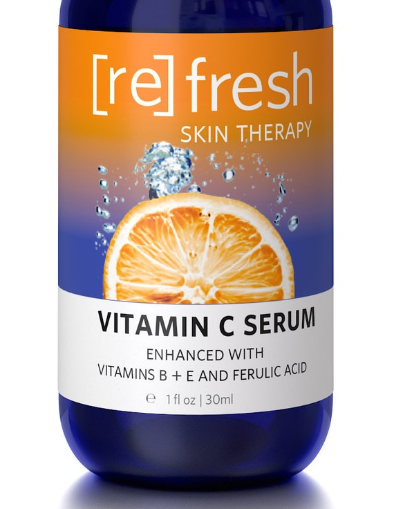 Vitamin C Serum with Vitamin E, B, Ferulic Acid, Hyaluronic Acid Serum for Face