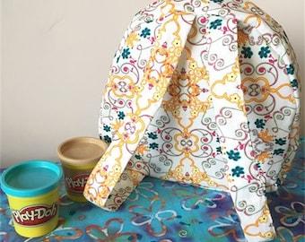 Handmade Toddler Backpack | summer swirls