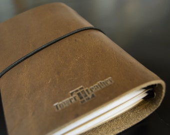 4-Star Field General In Natural Brown - Horween® Field Notes Cover