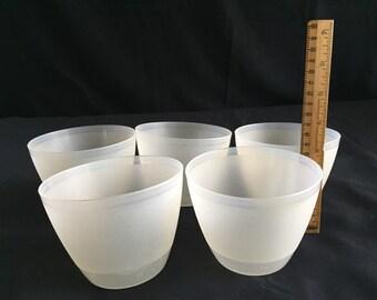 Vintage Tupperware Dessert Bowls, Set of Five