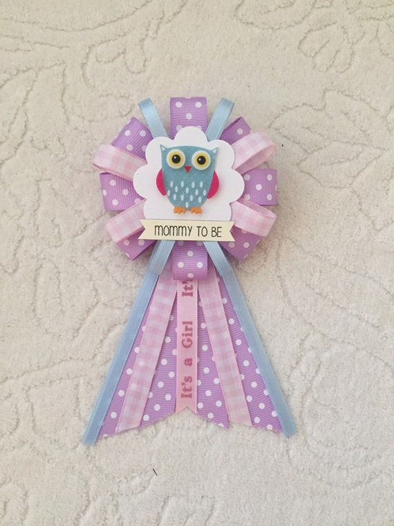 mommy to be ribbon corsage for baby shower it 39 s a girl animal baby