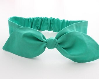Emerald Baby / infant headband - super soft fabric - solid jade green, christmas holiday