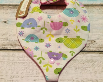 Turtletastic Paci/Teether Bib