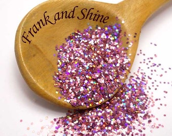 Puff Pink Holographic Solvent Resistant Glitter .025