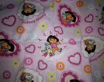 2.27 yards Dora The Explorer Fabric