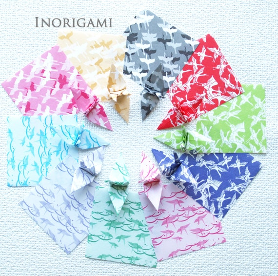 Japanese Baby Gift Ideas : Japanese paper cranes crane designs color by