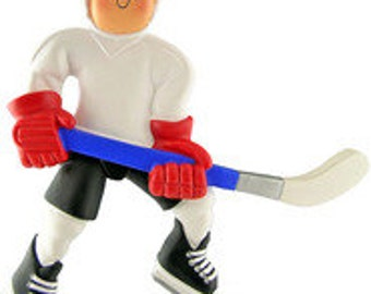 Hockey Player Personalized Christmas Ornament