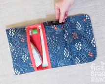 Nappy Wallet - Forest Mushrooms -- Nappy Clutch, Diaper Wallet, Baby Shower Gift, Nappy Bag, Diaper Bag, New Baby Gift, Fashion for Mum