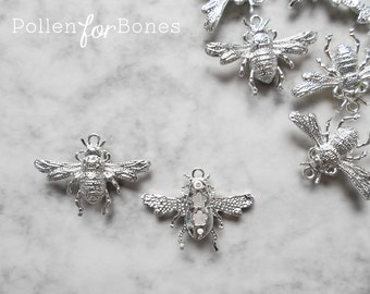 1pc ∙ Silver Bumble Bee Charm Insect Pendant Jewelry Supplies