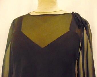 silk chiffon dress 3 layers size 12