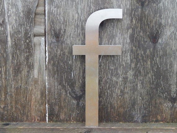 vintage metal letters for the wall vintage industrial metal letter f wall decor 14776