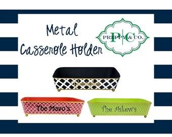 Metal Casserole Holder - Customize with Vinyl - Monogram Gift