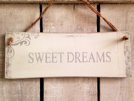 Sweet dreams rustic sign bedroom decor gift by for Bedroom gifts for her