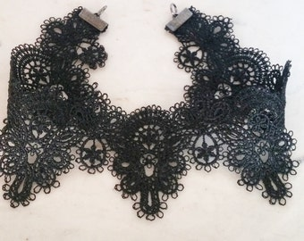 black lace trendy adjustable fashion choker
