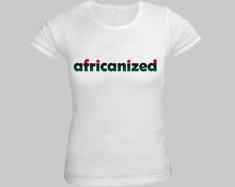 Africanized Red Black and Green Shirt for Women