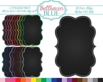 Chalkboard Bracket Frame Clipart