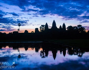 Sunrise Angkor Wat Cambodia-Travel Photography-Wall Art-Fine Art Print-Home Decor