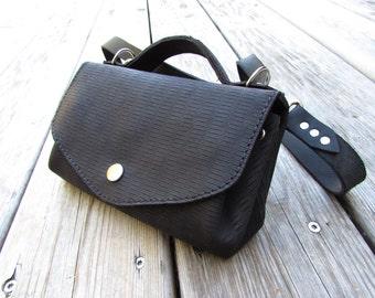 Purse , bag , 2 in 1 , black , elegant, leather