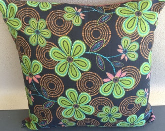 Retro Flowers Cushion Cover