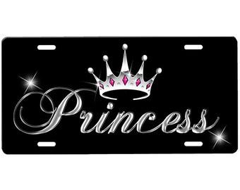 Princess Crown License Plate