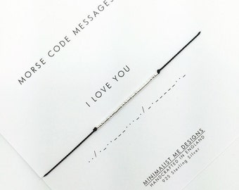Morse Code 'I love you' bracelet - the perfect gift