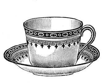 Cup of tea - temporary tattoo