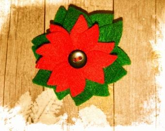Poinsettia brooch