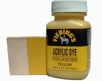 Fiebing's Acrylic Yellow Leather Paint 2 oz. (59mL) 2604-08