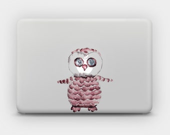 Transparent Decal Sticker for MacBook or Laptop - Owlet