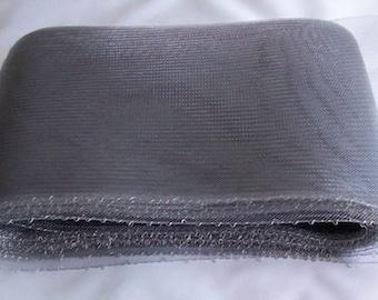 """grey crin 6"""" Crin Silver Grey (crinoline horsehair braid) 6 inch (16cm)"""