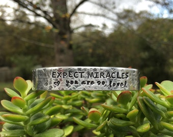 "Inspirational gift | ""expect miracles you are so loved"" 