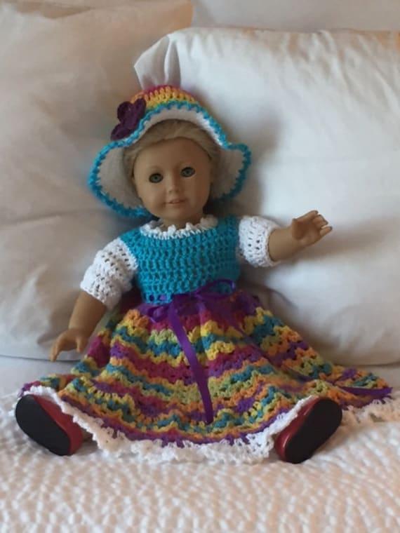 18 inch Bed Doll Dress Crochet PATTERN