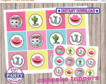 50% OFF SALE Sheriff Callie Instant Download Cupcake toppers easily print from home, cupake toppers, printable toppers, instant download, sa