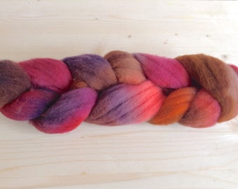 FIRE bird hand-dyed combed tops