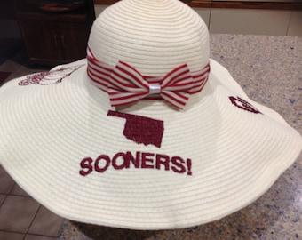 Sooners Wide Brim Sun Hat
