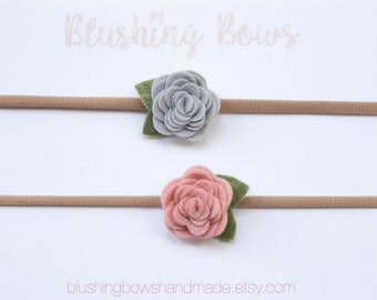 Felt Flower Headband- choose two