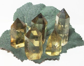 One (1) Smoky Citrine Polished Natural Crystal Point / Tower / Generator, Power of Abundance, Feng Shui, Reiki, Wicca, Craft  (Et229)