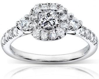 Diamond Engagement Ring 3/4 Carat (ctw) In 14k White Gold