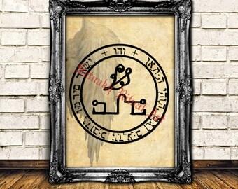 Vehuiah angel seal print, Vehujah angel sigil poster, angelic illustration, magic art, occult poster, powerful home decor, mysticism #365.1