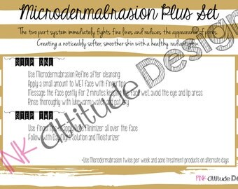 Facial in a Bag- Microdermabrasion Instructions and Survey
